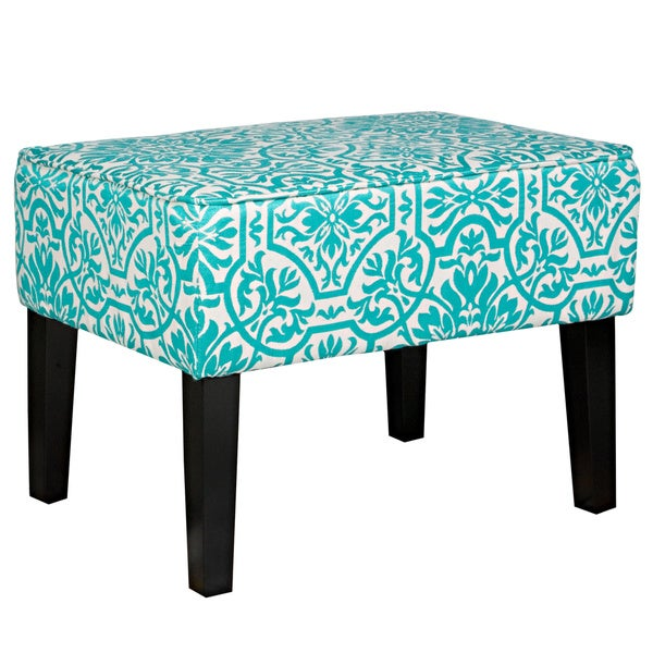 Handy Living Brighton Hill Turquoise Blue Small Bench