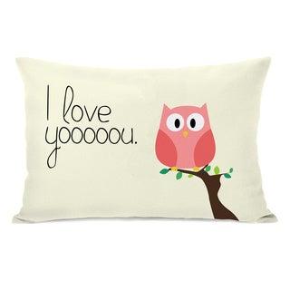 I Love You Owl Throw Pillow