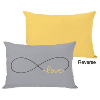 Infinite Love - Mimosa/Gray Throw Pillow
