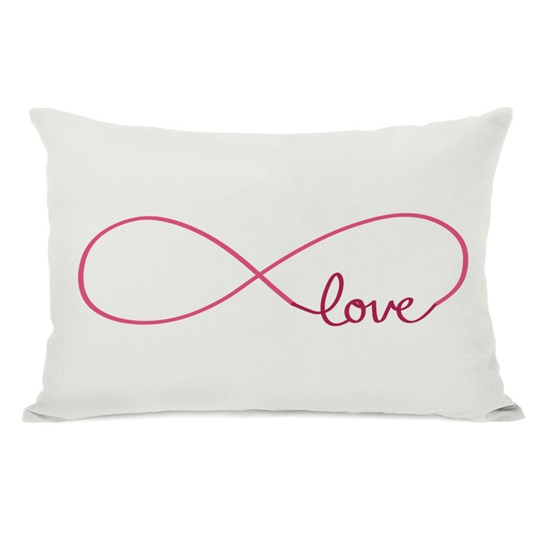 Shop Infinite Love Red Throw Pillow On Sale Free