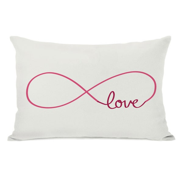 Throw Pillow Love : Infinite Love Red Throw Pillow - Free Shipping On Orders Over $45 - Overstock.com - 15736162