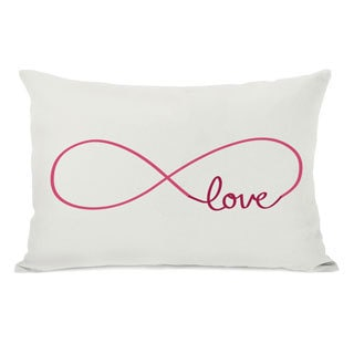 Infinite Love Red Throw Pillow