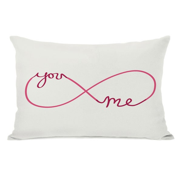 Infinite You Me Red/Pink Throw Pillow