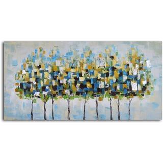 'Metropolis trees' Hand Painted Canvas Art