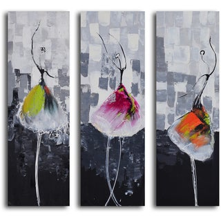 'Tutu trio' 3-piece Hand Painted Canvas Art
