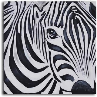 'Zebra perspective' Hand Painted Canvas Art