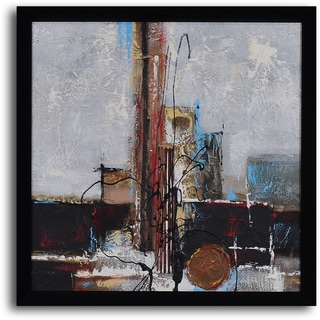 'Chocolate shop abstract' Hand Painted Framed Art
