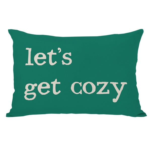 Shop Lets Get Cozy Plaid Throw Pillow On Sale Free