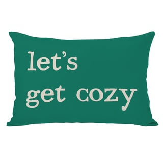 Lets Get Cozy Plaid Throw Pillow