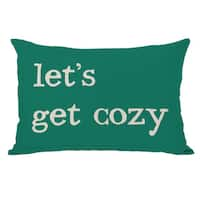 Lets Get Cozy Plaid Throw Pillow
