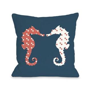 BFF Seahorse Throw Pillow