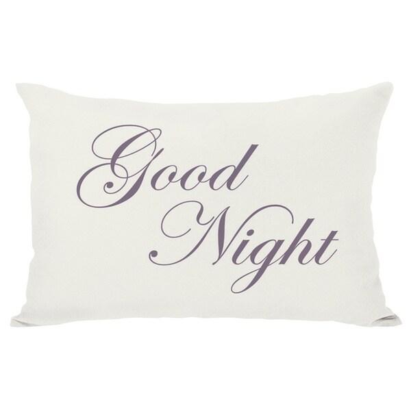 Bonne Nuit or Goodnight Reversible Throw Pillow