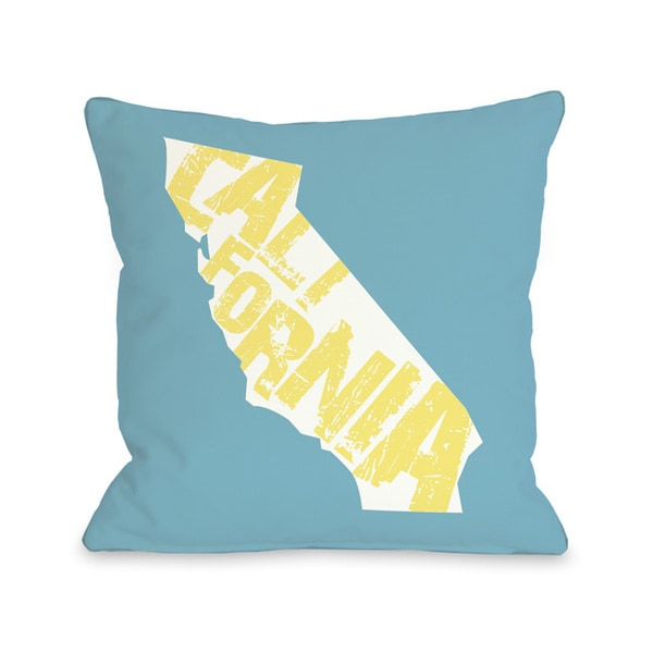 California State Silo Throw Pillow