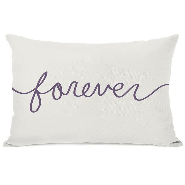 Forever Mix & Match - Grape Throw Pillow