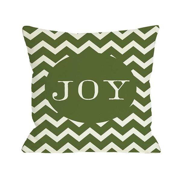 Joy Chevron Stripe Throw Pillow