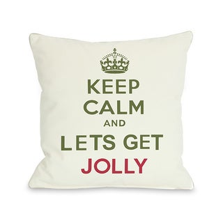 Keep Calm & Lets Get Jolly Throw Pillow
