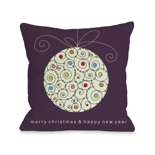 Large Ball Ornament Throw Pillow