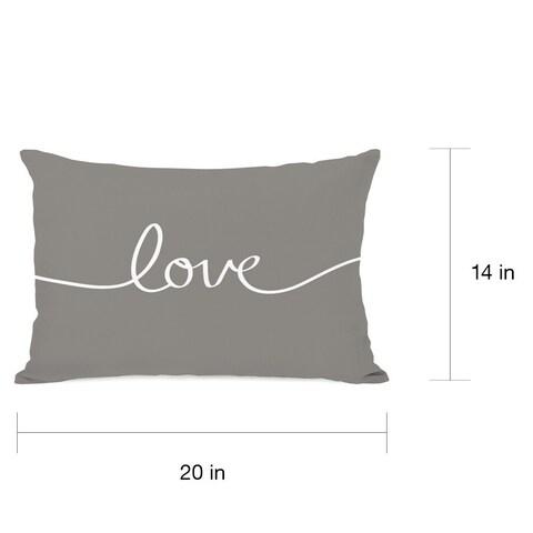 Love Mix & Match - Gray Throw Pillow
