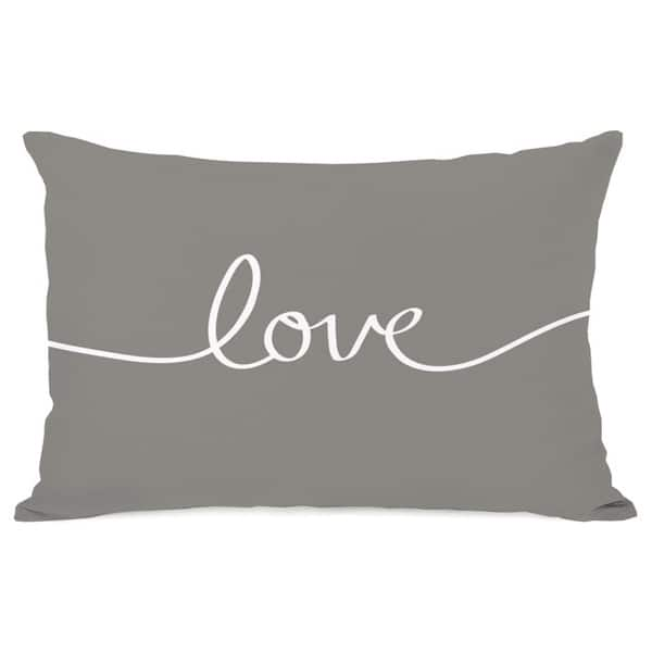 Shop Love Mix Match Gray Throw Pillow Overstock 8441315