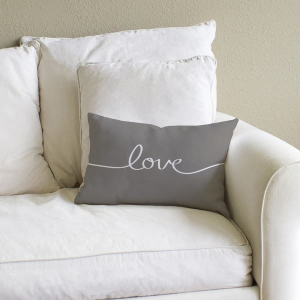 Love Mix Match Gray Throw Pillow Overstock 8441315