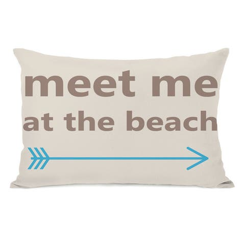Meet Me at The Beach Throw Pillow