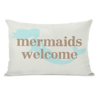 Mermaids Welcome Throw Pillow