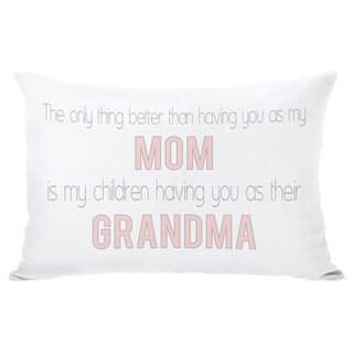 Mom Grandma Throw Pillow