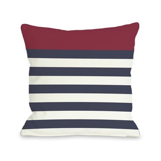 Nautical Red Throw Pillow