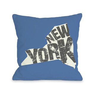 New York State Silo Throw Pillow