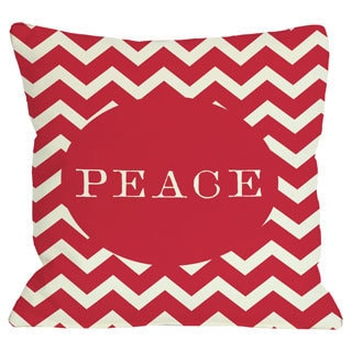 Peace Chevron Stripe Throw Pillow