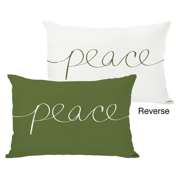 Peace Mix & Match Holiday Throw Pillow