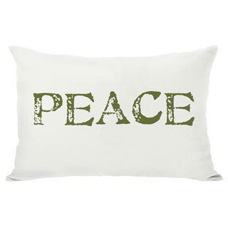 Peace Reversible Throw Pillow