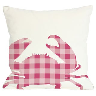 Plaid Crab Throw Pillow