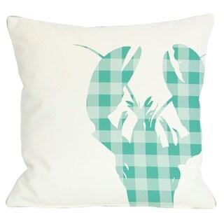 Plaid Lobster Throw Pillow