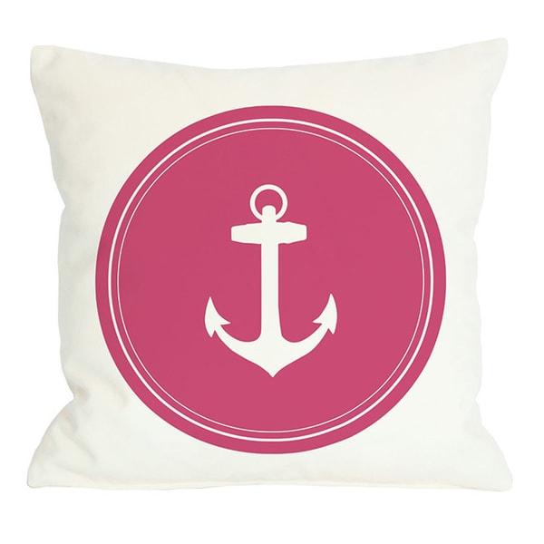 Polka Dot Back Anchor Throw Pillow