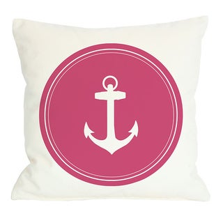 Polka Dot Back Anchor Throw Pillow