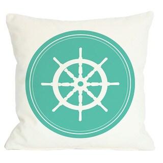 Polka Dot Back Wheel Throw Pillow