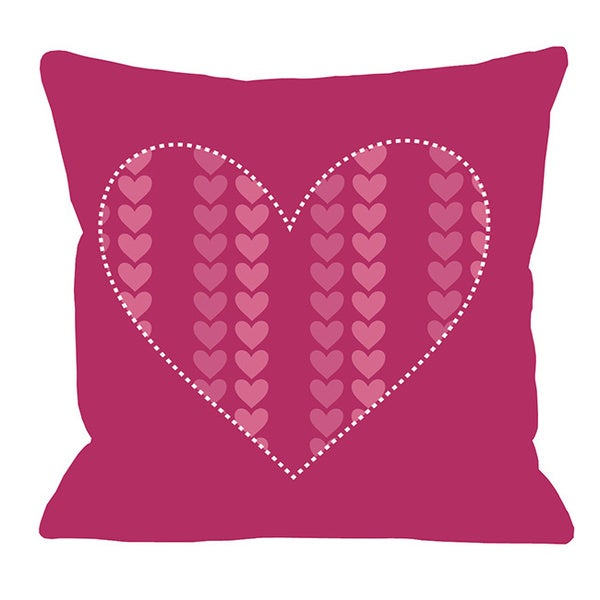 Repeating Heart Throw Pillow. Opens flyout.