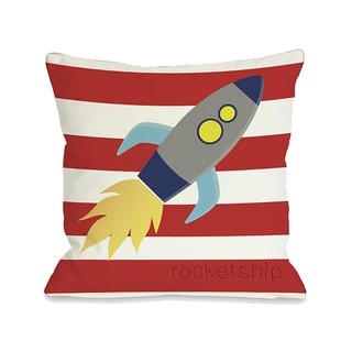Rocketship Throw Pillow