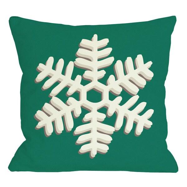 Single Snowflake Throw Pillow