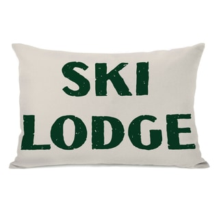 Ski Lodge Throw Pillow