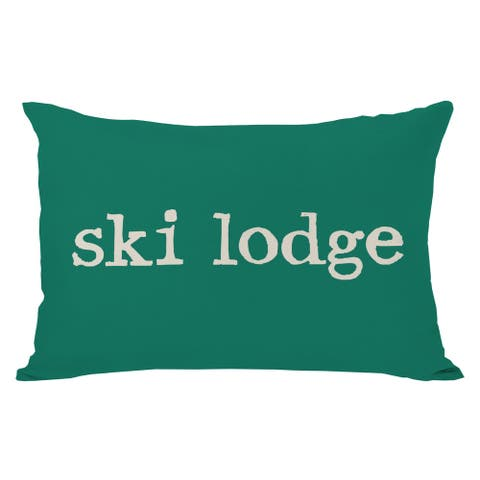 Ski Lodge Plaid Throw Pillow