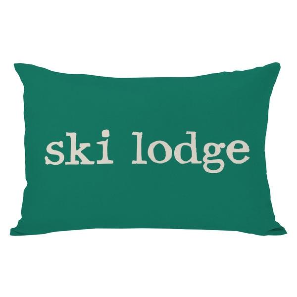 Ski Lodge Plaid Throw Pillow. Opens flyout.