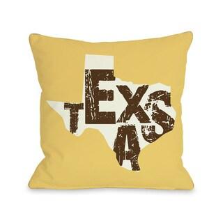 Texas State Silo Throw Pillow