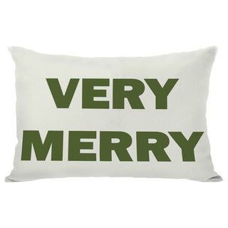 Very Merry Reversible Throw Pillow