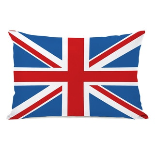 Union Jack Flag Throw Pillow