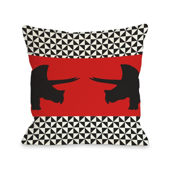 Triceretops Throw Pillow