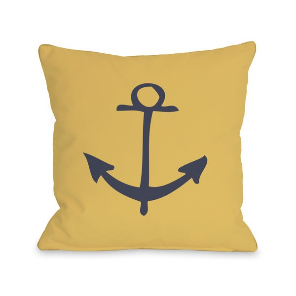 Vintage anchor throw pillow free shipping today for Overstock free returns