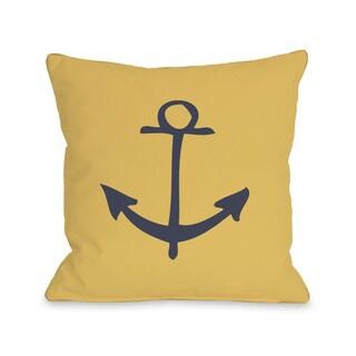 Vintage Anchor Throw Pillow