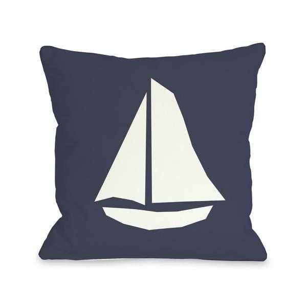 Vintage Sailboat Throw Pillow